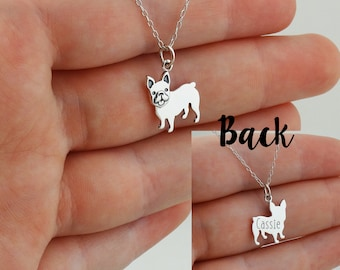 miniature puppy dog personalized Rose Gold Filled Gold Filled French Bulldog Necklace More Options Sterling Silver