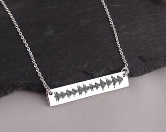 830eb327e3822 Wave bar necklace | Etsy
