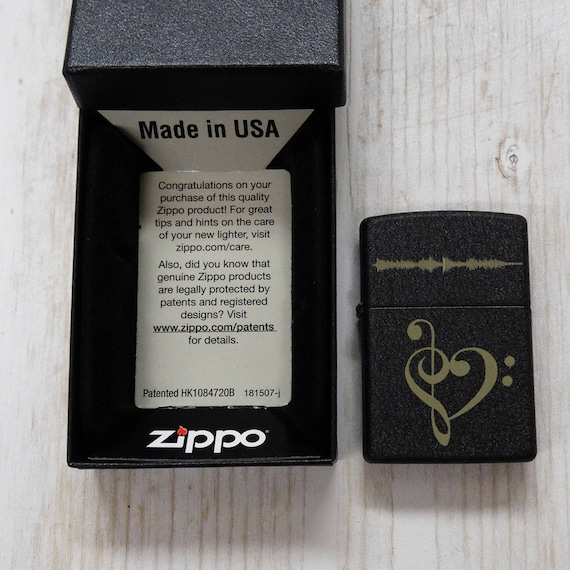 Treble Clef Bass Clef Zippo Lighter With Personalized Engraved Etsy