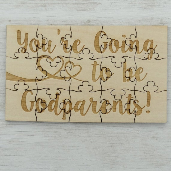 We/'re Expecting Puzzle Basswood Lasered Jigsaw Puzzle Fun Put Together Surprise Pregnancy Announcement