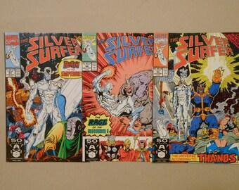 Thanos; Silver Surfer#53 #54 #55; Infinity War; Infinity Gauntlet!; Thanos Vs Avengers; Kree Empire; Rhino; Key Comics!