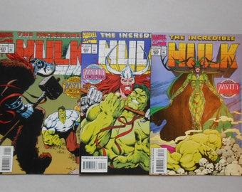 Hulk #421, #422, #423; Hela; Gary  Frank Art; Incredible Hulk; Thor; Ragnarok; Hela;  Death; Infinity War movie; comic lot 2;Fine Grade!