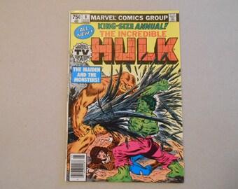 Hulk King Size Annual #8; Sasquatch;  Hulk Vs Sasquatch; Alpha Flight's Sasquatch Vs Incredible Hulk; Epic Hulk Battle!  High Grade!