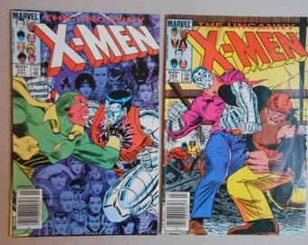 X-Men #183 and #191; Juggernaut; Colossus Vs Juggernaut; Avengers Vs X-Men;1st Black Queen; 1st Nimrod; Spiderman; Very Good Comics!