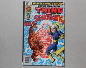 Marvel Two in One #61; 1st Ayesha; 1st Her; Starhawk; Guardians of the Galaxy 2 Movie; Sovereign; Starhawk Vs Ayesha; Thanos! High Grade!