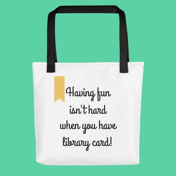 Bookworm For Her Bookish Gift Tote Bag Having Fun Isn t  f5a82d4966a41