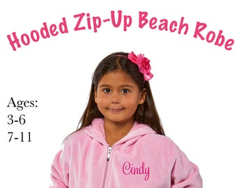 Hooded Zip Up Beach Robe for Kids 8c2b6b832