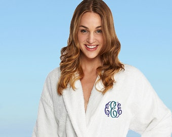 Personalized Full Ankle Length Terry Shawl Bathrobe f044a9c3f