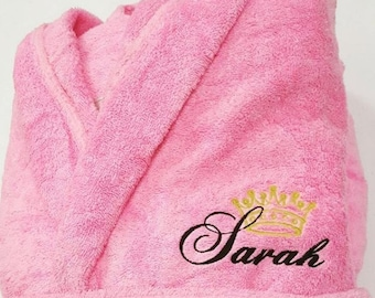 Monogrammed Hooded Turkish Terry Bath Robe 2dbe1453a
