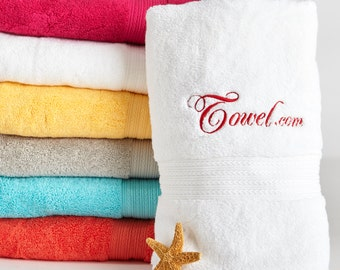 Personalized Egyptian Cotton Bath Towel, 100% Cotton | Monogrammed Gift Towel | Kassatex Bath Towel for Kids, Teens and Adults.