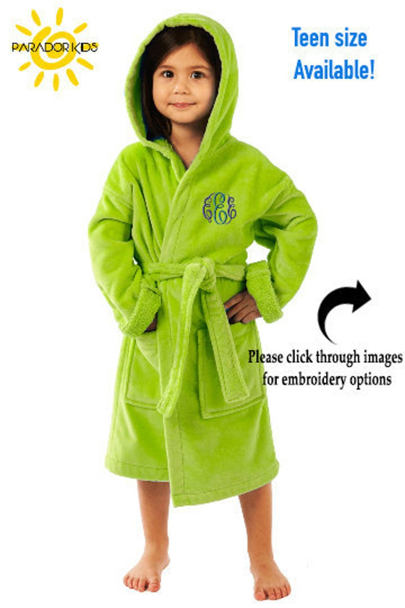 52c81d60fc Terry Robe for Kids Parador® Monogrammed Kids Hooded Terry