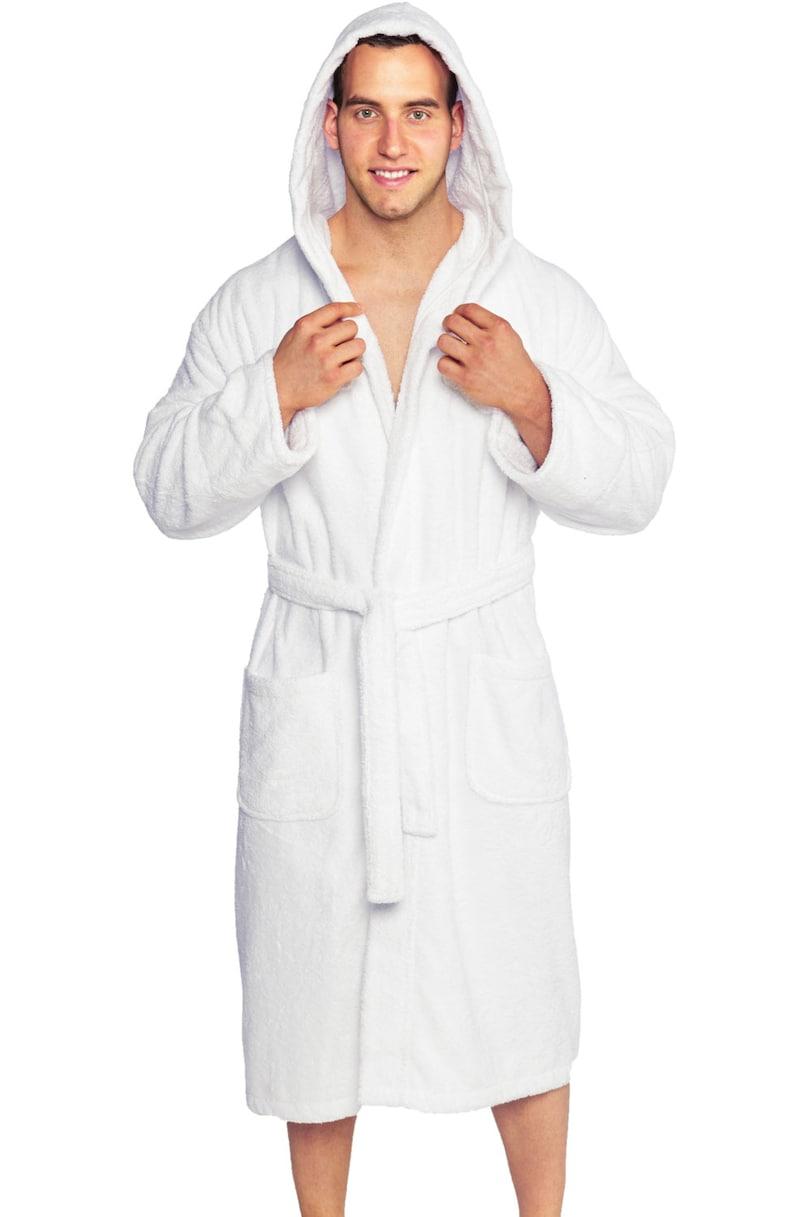 24956cbbcf Personalized Men s Parador® Hooded Terry Bathrobe 100%