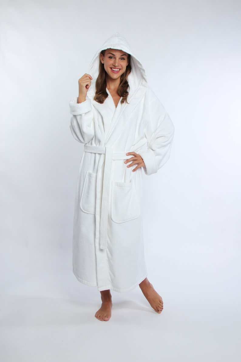 Parador\u00ae Monogrammed Hooded Turkish Terry Velour Bath Robe Personalized-Embroidered Women/'s Robe 100/% Combed Pure Cotton Gift For Her