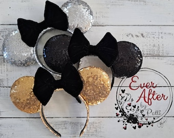 Not So Hidden Mickey Ears with your choice in bow color