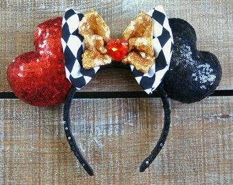 Queen Of Hearts Ears -Disney Inspired