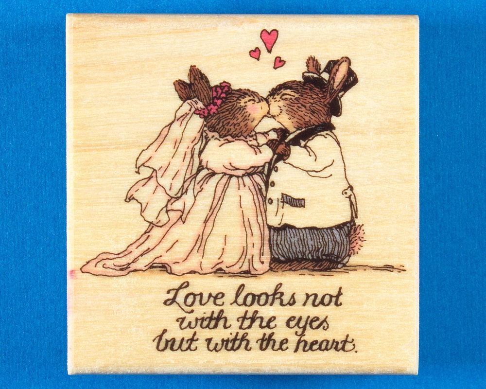 Rabbit Wedding Rubber Stamp From The Holly Pond Hill Series Etsy