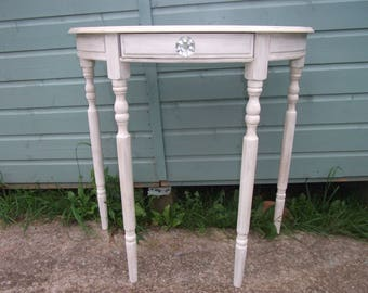 Shabby Chic Vintage Half Moon Demi Lune Hall Table
