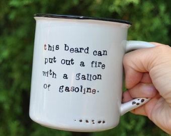 Funny gift for him husband gift boyfriend gift fathers day gift for husband funny gifts for boyfriend gift for dad funny coffee mug beard