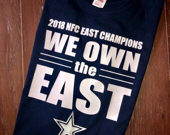 We own the east dallas cowboys shirt 2018 nfc champions 380b61f55