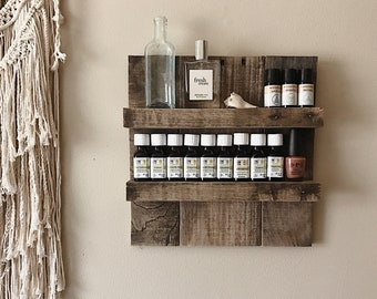 Essential Oil Storage// Gift// Gifts For Her// Wedding Gift// Housewarming Gift// Anniversary Gift// Essential Oil Shelf Organizer