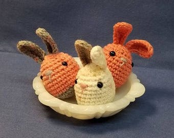 Amigurumi Easter Basket Stuffer Bunny Crocheted Bunny Rabbit toy ... Grab bag of 3