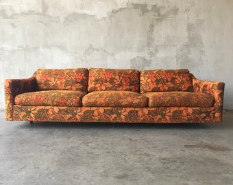 1960s 1970s Floral Style Couch