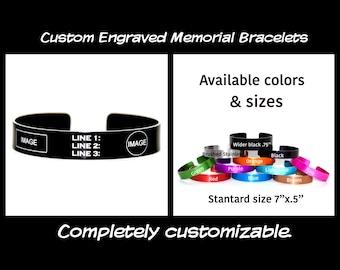 Memorial Bracelet / Fallen Hereos / Fallen Officer / Military Bracelets / KIA Bracelet / End of Watch / IGY6 / Veteran band / Hereo Bracelet