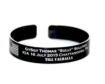 Memorial Bracelet / Military / KIA / In Memory of / Loss of a loved one / Honor the Fallen / Memorial jewelry / Fallen Solider / USMC Navy