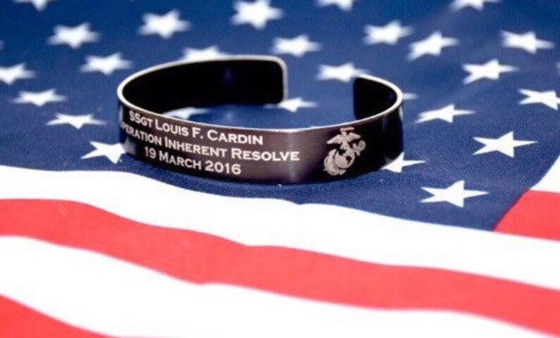 Memorial Bracelet / Honor the Fallen /  POW / Military image 0