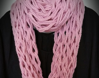 Arm knitted infinity scarf,  arm knit scarf, arm knitting, arm knit, infinity scarf, chunky infinity scarves, chunky cowl, chunky knit cowl