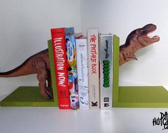 Green Tyrannosaurus Rex (T-Rex) Dinosaur Bookends