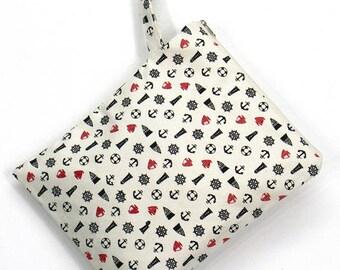 SALE 20% OFF Anchor Wet bag, swim suit bag, Bikini bag, Diaper, Bathing suit bag, wet dry bag, Cosmetic bag, Travel bag, Gift