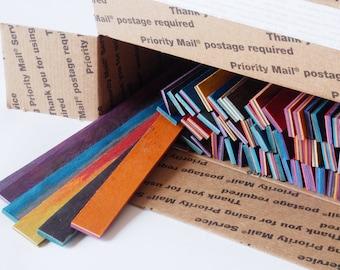 Dyed Laminate Wood - Rip Strips