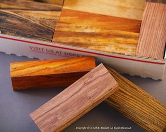 Exotic Wood Scraps - Mix - Small