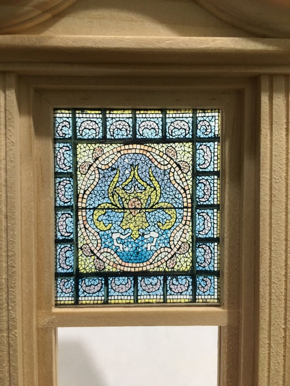 conception victorienne motif fenêtre Verre gravé effet film de fenêtre les styles victorien