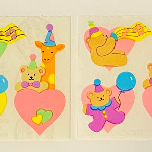 Sandylion Sweet Dreams Bears Sticker Sheet Teddy Bear Sleepy Time Slippers Bedtime Blanket Blankee Teddie Bear stickers Rare Vintage FM427