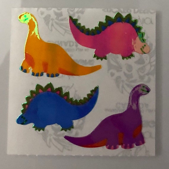 Sandylion Vintage Stickers *PEARLY SWANS* SQUARE MODULE RARE!