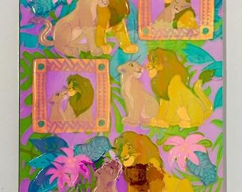 Vintage Rare Sandylion Lion King Pearl Maxi. Disney Stickers, Lions,