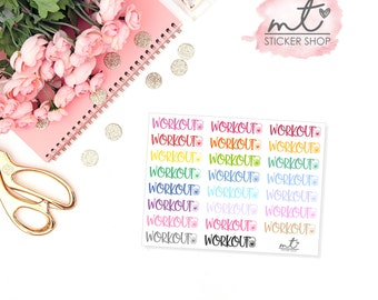 Workout || Planner Stickers || Erin Condren Life Planner, Happy Planner || SKU 039