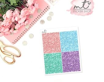 Spring Break Glitter Headers || 28 Planner Stickers || Erin Condren Life Planner, Happy Planner