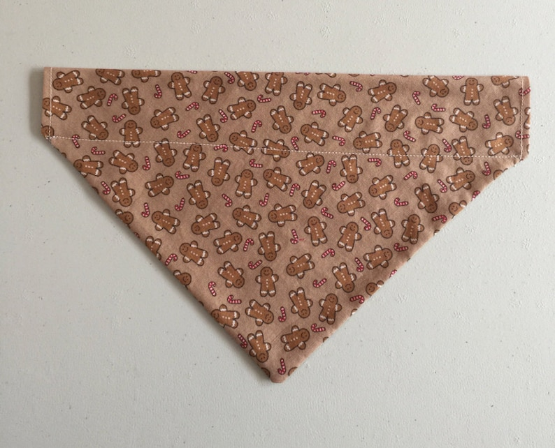 Gingerbread Man Cookie Candy Cane Christmas Over the Collar Dog Bandana