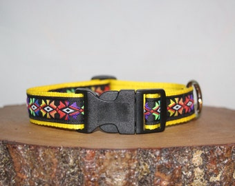 Aztec Starburst Multi Color Adjustable Dog Collar