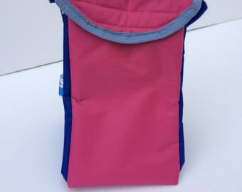 Insulated Lunch bag, insulated bag, lunch tote, handled lunch bag, small lunchbag, child's lunch bag, lunch bag for women