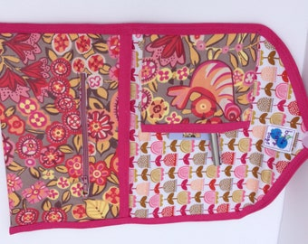 Fabric kindle case, pink and yellow case, kindle case, kindle paperwhite cover, kindle, Mini iPad case, accessory cases, kindle fire sleeve