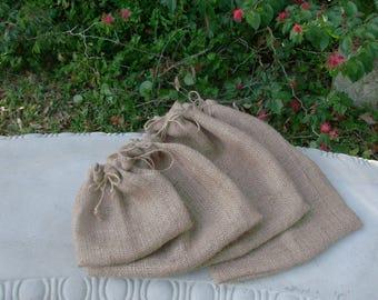 2 Organic Hemp Produce Bag Sets, Reusable Produce Veggie/Fruit Bag, Grocery Bag, EcoFriendly Produce Bag, Eco Fabric Market Bag, Zero Waste