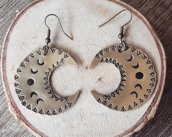 <<< Boucles d'oreilles Mama Quilla >>>