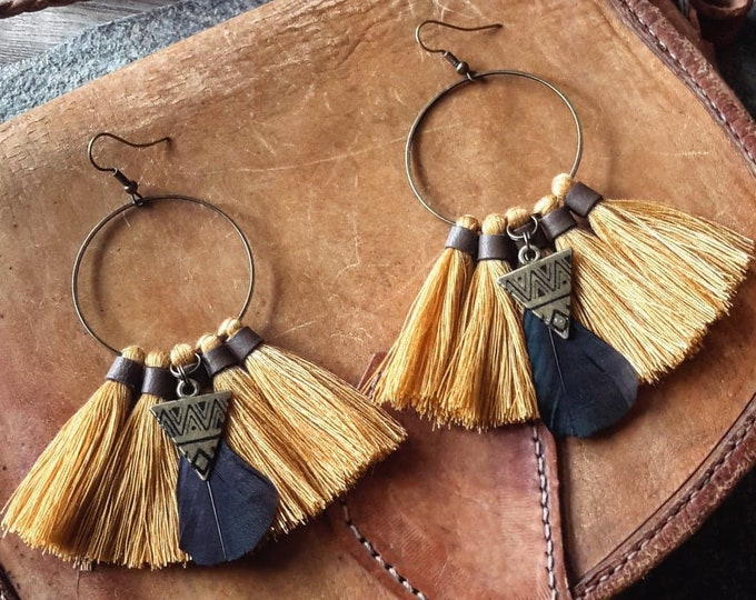 Featured listing image: <<< Boucles d'oreilles Cherokee >>>