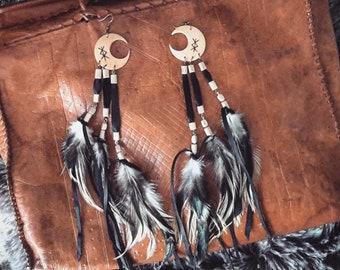 <<< Boucles d'oreilles Luna >>>
