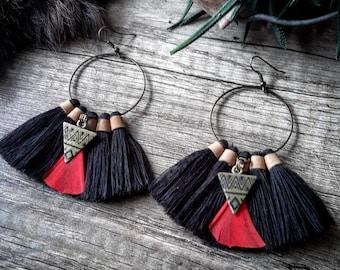 <<< Boucles d'oreilles Cherokee >>>