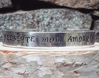<<< Bracelet Liberté mon Amour >>>